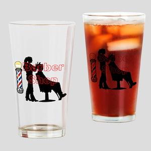 Lady Barber Shop Design Drinking Glass