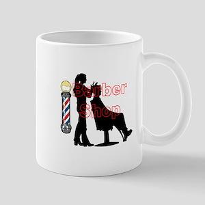 Lady Barber Shop Design Mugs