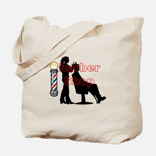 Lady Barber Shop Design Tote Bag