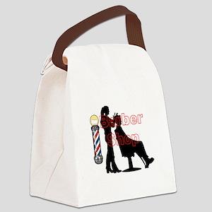 Lady Barber Shop Design Canvas Lunch Bag