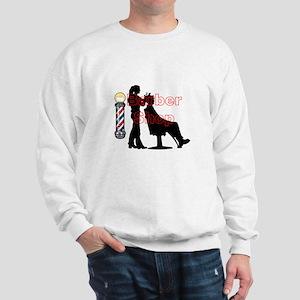 Lady Barber Shop Design Sweatshirt