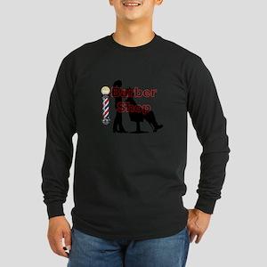 Lady Barber Shop Design Long Sleeve T-Shirt