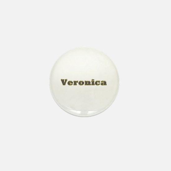 Veronica Gold Diamond Bling Mini Button
