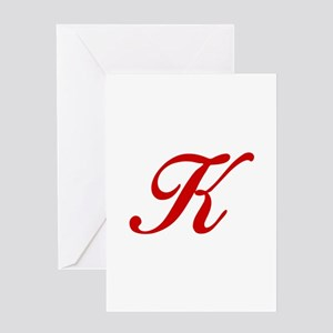 K-Bir red2 Greeting Cards