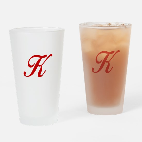 K-Bir red2 Drinking Glass