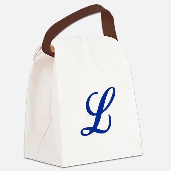 L-Bir blue2 Canvas Lunch Bag