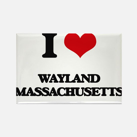 I love Wayland Massachusetts Magnets