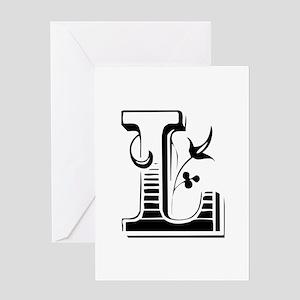 L-Max black Greeting Cards