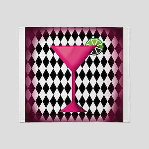 Pink Martini Black Cream Throw Blanket