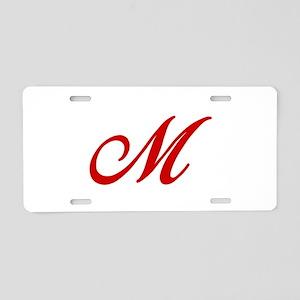 M-Bir red2 Aluminum License Plate