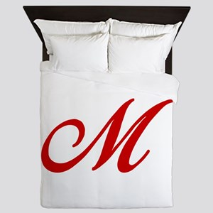 M-Bir red2 Queen Duvet