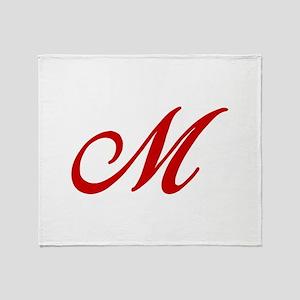M-Bir red2 Throw Blanket