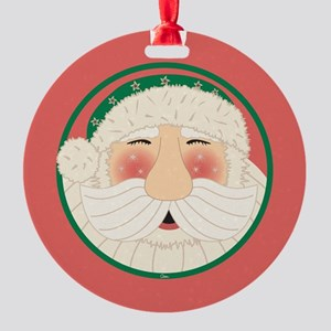 Santa Head-circle Round Ornament