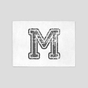 M-Col gray 5'x7'Area Rug