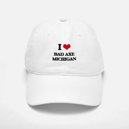 I love Bad Axe Michigan Baseball Baseball Cap