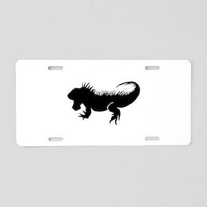 Iguana Silhouette Aluminum License Plate