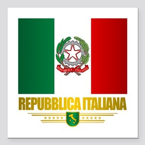 """Italia Square Car Magnet 3"""" x 3"""""""