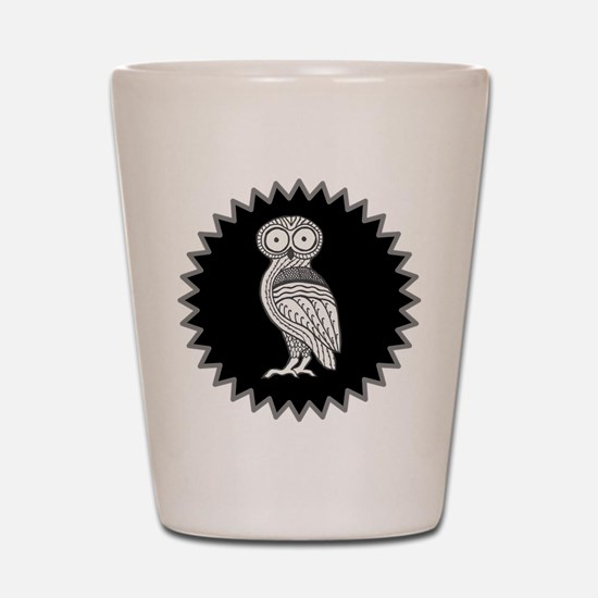 Athenas Owl Shot Glass