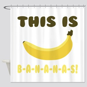 This Is Bananas Shower Curtain
