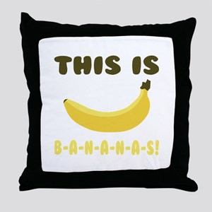 This Is Bananas Throw Pillow