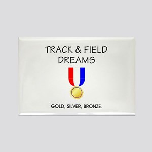 Track & Field Dreams Rectangle Magnet