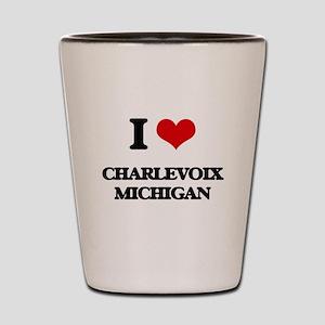 I love Charlevoix Michigan Shot Glass