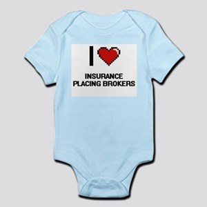 I love Insurance Placing Brokers Body Suit