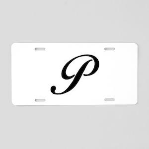 P-Bir black Aluminum License Plate