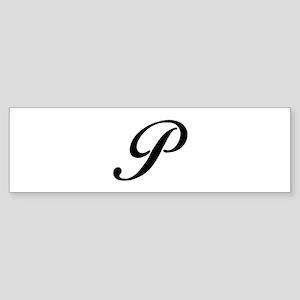 P-Bir black Bumper Sticker