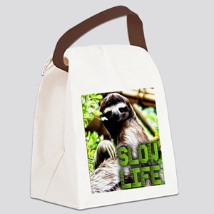 Slow Life Canvas Lunch Bag