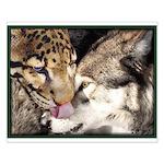 """""""Leopard-Wuff Kiss"""" Small Poster"""