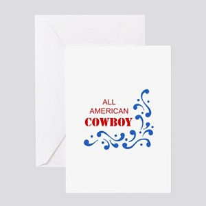 ALL AMERICAN COWBOY Greeting Cards