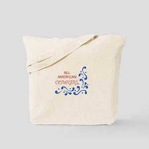 ALL AMERICAN COWGIRL Tote Bag