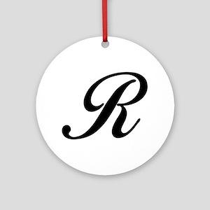 R-Bir black Ornament (Round)