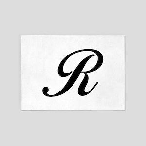 R-Bir black 5'x7'Area Rug
