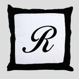 R-Bir black Throw Pillow