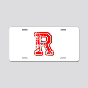R-Col red Aluminum License Plate