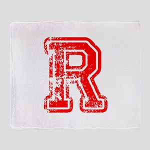 R-Col red Throw Blanket