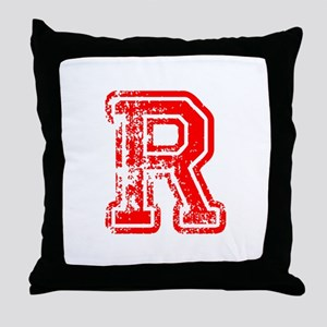 R-Col red Throw Pillow