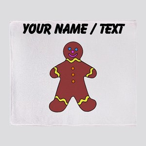 Ginger Bread Man (Custom) Throw Blanket
