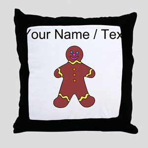 Ginger Bread Man (Custom) Throw Pillow