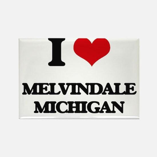 I love Melvindale Michigan Magnets