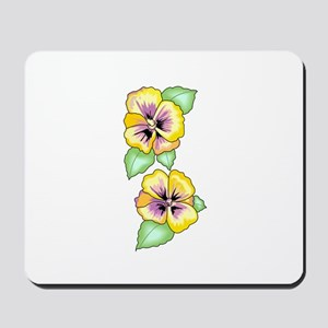 PANSY FLOWER BORDER Mousepad