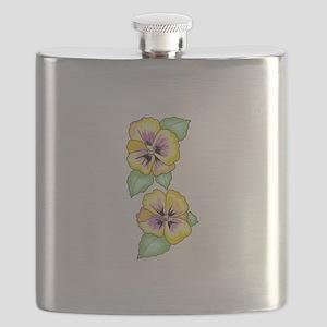 PANSY FLOWER BORDER Flask