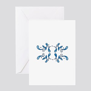 BANDANA BORDER Greeting Cards