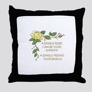 A SINGLE ROSE... Throw Pillow