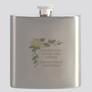 A SINGLE ROSE... Flask