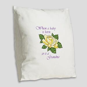 GRANDMA Burlap Throw Pillow