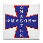 Master Masons Cross Tile Coaster