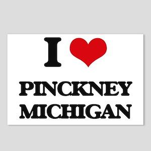 I love Pinckney Michigan Postcards (Package of 8)